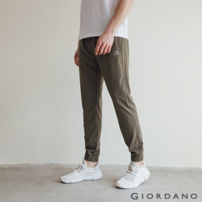 GIORDANO 男裝3M機能運動休閒束口褲 - 50 葡萄葉綠