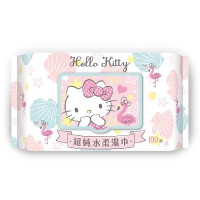 Sanrio 三麗鷗 Hello Kitty 凱蒂貓 超純水加蓋濕紙巾100抽X24包/箱