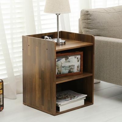 澄境 工業風附插座二層床頭櫃收納櫃/邊櫃40x40x55cm-DIY