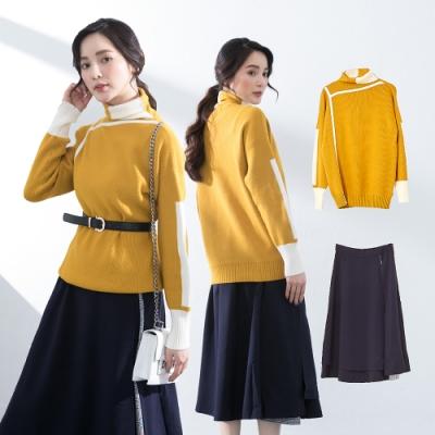 [時時樂限定]【KiKi】漸層開衩設計-長裙(三色/版型顯瘦)
