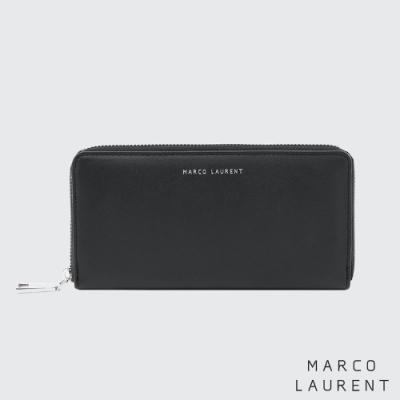 MARCO LAURENT Eternal 牛皮多層拉鍊長夾 - 黑色