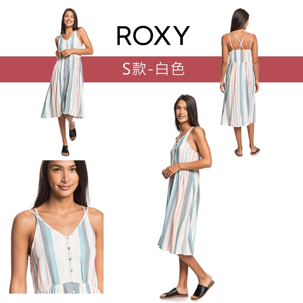 【獨家39折起】ROXY精選女裝/洋裝$888 (任選) (尺寸XS-M) (S款-白色)
