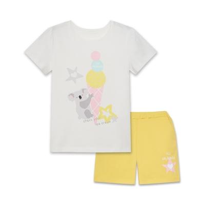 【麗嬰房】 EASY輕鬆系列 水水美食家無尾熊套裝(短袖上衣+短褲)-白色(76cm~130cm)