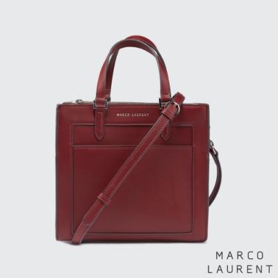 MARCO LAURENT Frame 造型拉鍊手提肩背包 - 紅色