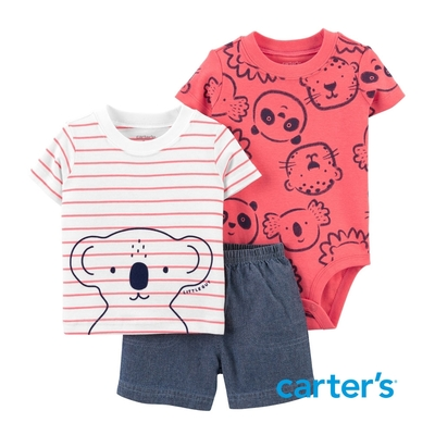 【Carter s】 憨厚的無尾熊3件組套裝(6M-24M)