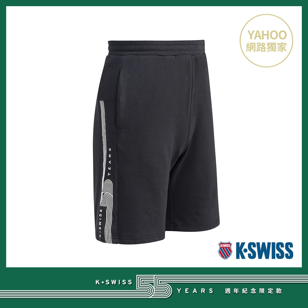K-SWISS 55TH SWEAT SHORTS棉質短褲-男-黑