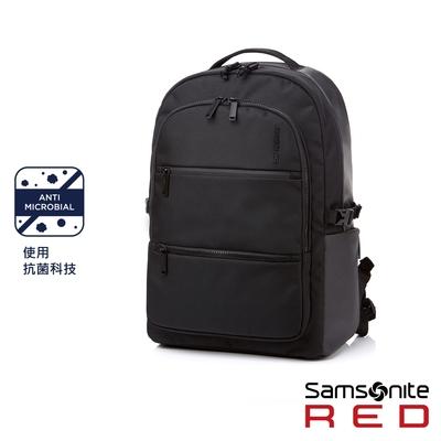 (6/1 10:00 ~6/21 10:00 送超贈點500) Samsonite RED HAESOL 實用現代款筆電後背包M 15.6吋(黑)