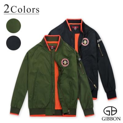 GIBBON 美式電繡棒球飛行外套-二色
