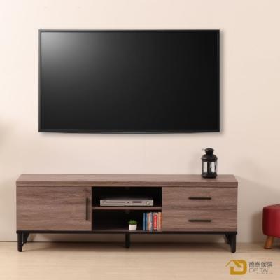 D&T德泰傢俱 BROOK淺胡桃木5尺電視櫃-150x40x49cm