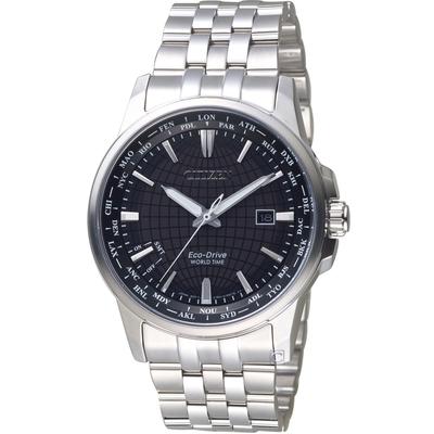 CITIZEN Eco-Drive 環遊世界萬年曆錶(BX1001-89E)黑/41mm