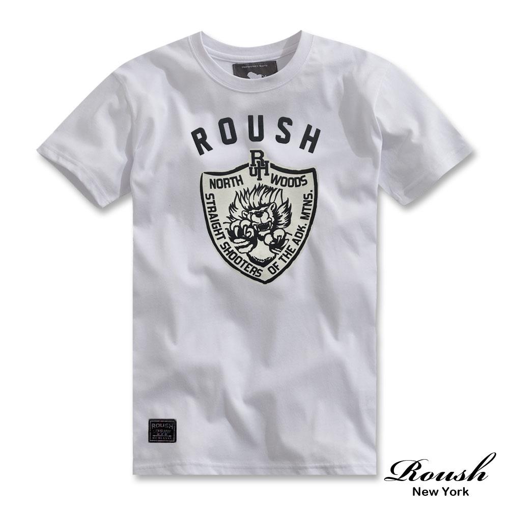 Roush 美式盾牌小獅短TEE(3色)