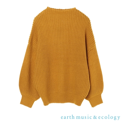 earth music 船型領落肩針織上衣