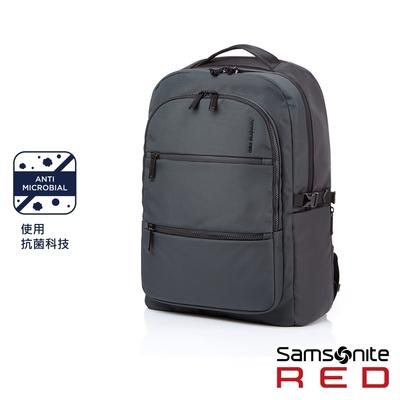 (6/1 10:00 ~6/21 10:00 送超贈點500) Samsonite RED HAESOL 實用現代款筆電後背包M 15.6吋(灰)