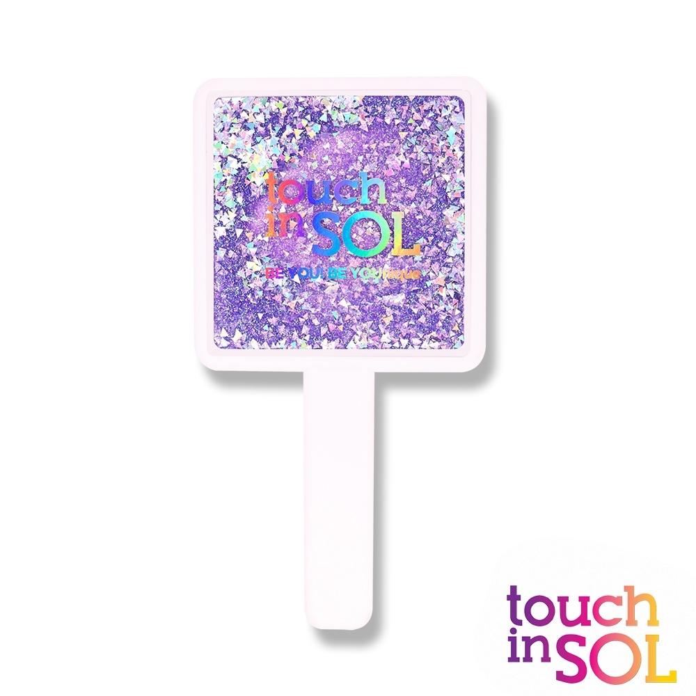 韓國Touch in SOL光之瀅 亮片手柄四角鏡(白)