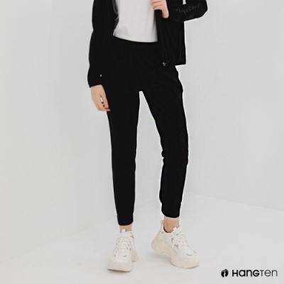 Hang Ten-女裝-恆溫多功能-REGULAR FIT標準四向彈力吸濕快乾抗曬運動長褲-黑色