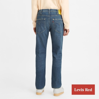 Levis Red 工裝手稿風復刻再造 男款 上寬下窄 502 Taper牛仔褲 海軍綠水洗 彈性布料