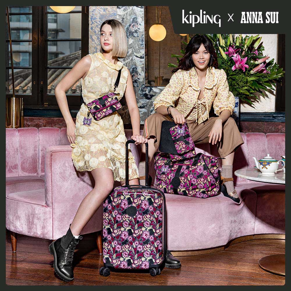Kipling Kipling x ANNA SUI 浪漫向日葵圖騰多袋實用配件包-IAKA L WRISTLET