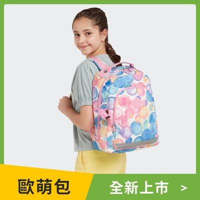 Kipling 繽紛夢幻泡泡經典拉鍊後背包-CLASS ROOM S PATCH