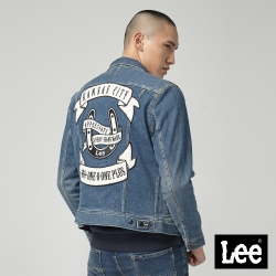 Lee 背部刺繡設計牛仔外套 /中