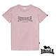 【LONSDALE 英國小獅】極簡植絨LOGO短袖T恤-櫻花粉LT003 product thumbnail 1