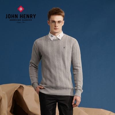 【JOHN HENRY】經典LOGO刺繡針織衫 兩色選