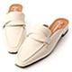 D+AF 圓弧線條.交疊設計低跟穆勒鞋*米 product thumbnail 1
