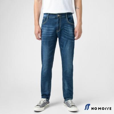 NoMorre 經典刷色窄管九分牛仔褲