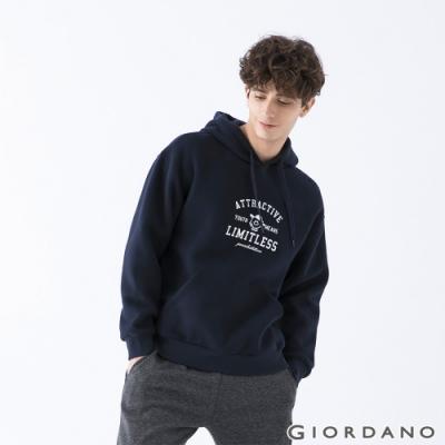 GIORDANO  男裝YOUTH連帽T恤 - 31 標誌藍