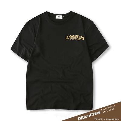 DITION 西岸洛杉磯LOSANGELES標語短袖上衣 落肩短T oversize 季後賽 NBA