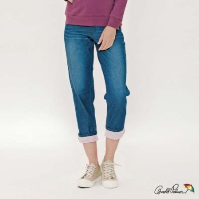 Arnold Palmer-女裝-cooltouch褲腳格紋牛仔褲-深藍