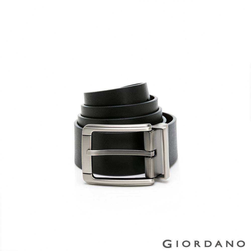 GIORDANO 男裝雙面用紳士皮帶-09 黑/咖