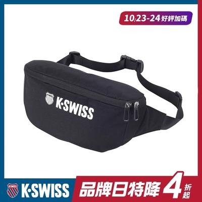 K-SWISS CT FANNY BAG休閒運動腰包-黑