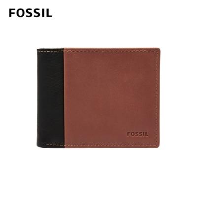 FOSSIL 母親節優惠 WARD 真皮帶翻轉證件格RFID男夾-黑色 ML3918001