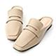 D+AF 隨性步調.經典款方頭平底穆勒鞋*杏 product thumbnail 1