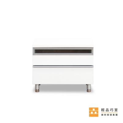 【輕品巧室-綠的傢俱集團】北歐極簡淨白床頭櫃-純白色(抽屜櫃/收納櫃)
