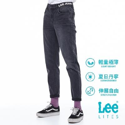 Lee 牛仔褲 413 合身高腰小直筒 女 中深灰 彈性