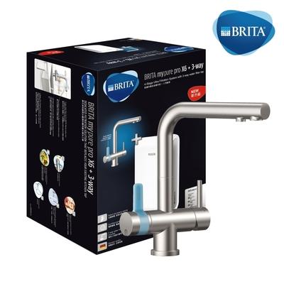[買就送WMF鍋組] BRITA mypure pro X6 +L型超濾三用龍頭櫥下濾水系統(含安裝服務)