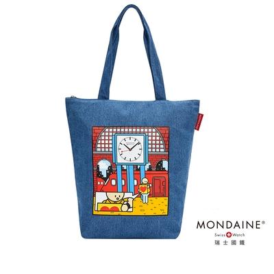 MONDAINE 瑞士國鐵 x 舉牌小人聯名紀念大容量帆布包 / 托特包 / 購物袋 / 肩背包 / 手提包 可放A4 – Swiss Image