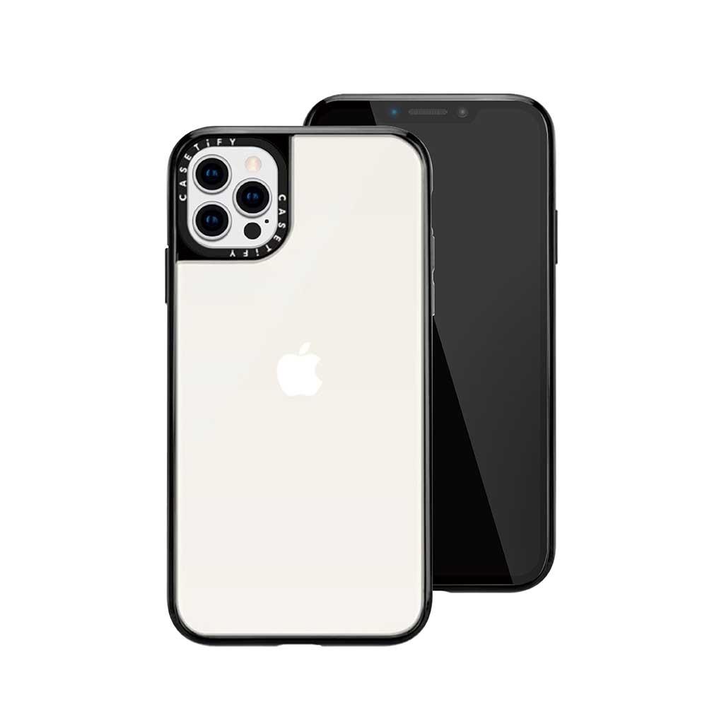 Casetify iPhone 12/12 Pro 輕量耐衝擊保護殼-透黑