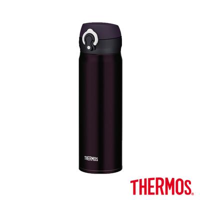[送凱菲保溫杯] THERMOS 膳魔師‧超輕量‧不鏽鋼真空保溫瓶0.5L-深紫色 (JNL-500-DPL)