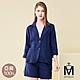 MYVEGA麥雪爾 MA100%亞麻蕾絲套裝外套-深藍 product thumbnail 1