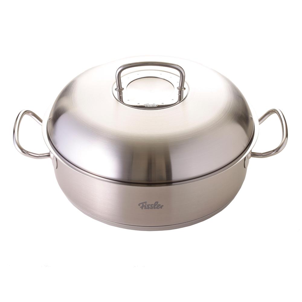 德國Fissler Original Profi 皇冠形深炒平底鍋含不鏽鋼蓋 28cm