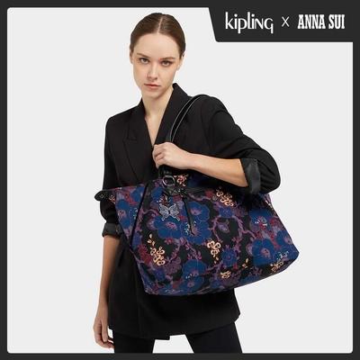 Kipling Kipling x ANNA SUI 搖滾冬青羽蝶印花手提側背包-ART M