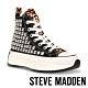 STEVE-MADDEN-SHARK 經典潮流款 厚底休閒帆布鞋-豹紋黑 product thumbnail 1