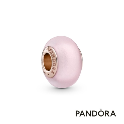 【Pandora官方直營】粉紅啞光Murano琉璃串飾