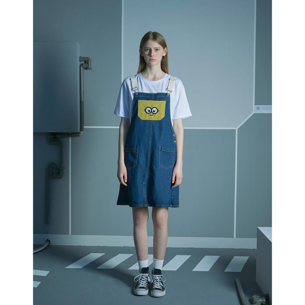 CACO-BOB撞色吊帶裙-親子款-女【B2US008】