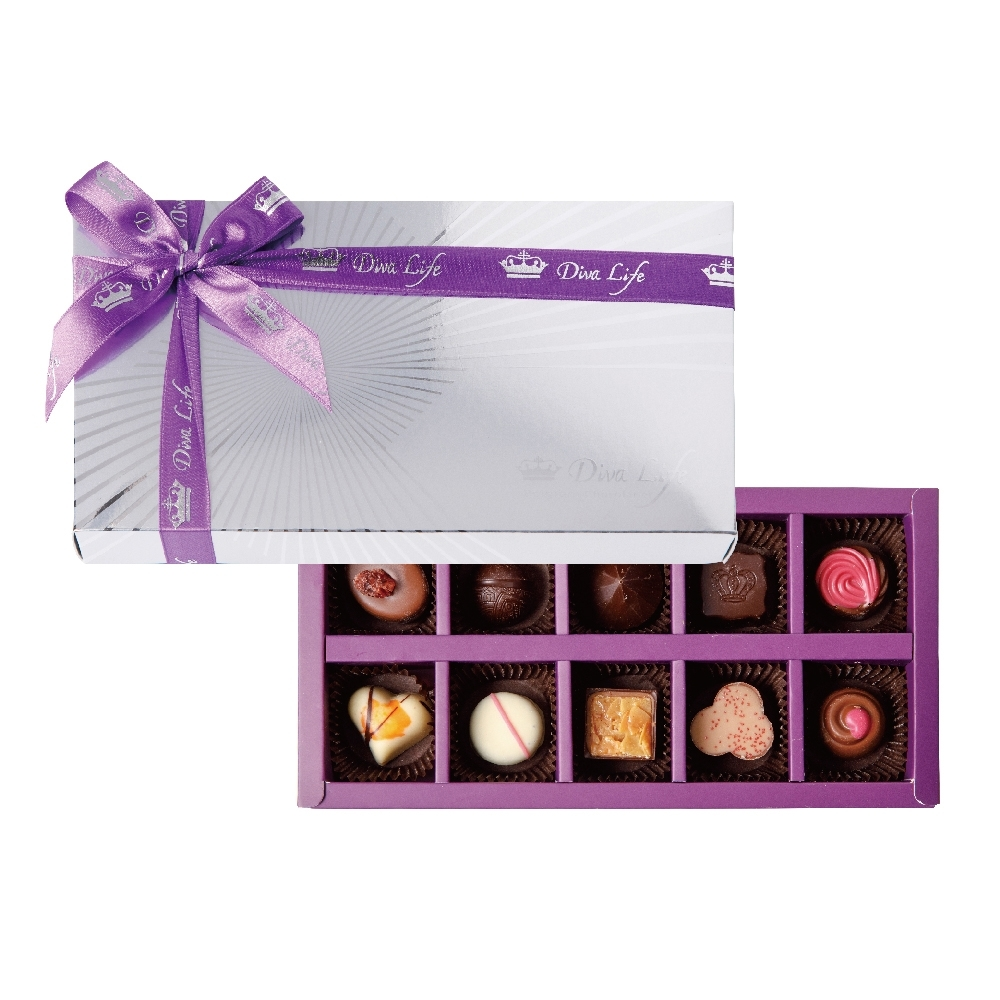 Diva Life 比利時巧克力10入(銀饌禮盒)