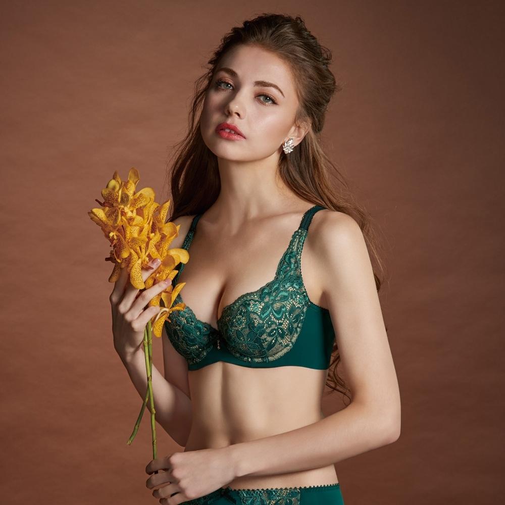曼黛瑪璉 Hibra大波內衣 B-G罩杯(內斂綠)