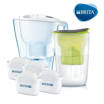 [共2壺4芯] 德國BRITA Aluna愛奴娜3.5L濾水壺+2入全效型濾芯+酷樂壺