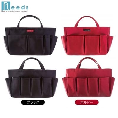 日本原裝進口NEEDS多用途媽媽袋中袋收納包中包(含提帶,外9格,內1格)作健身房包溫泉包化妝包#678674黑色/#678681紅色